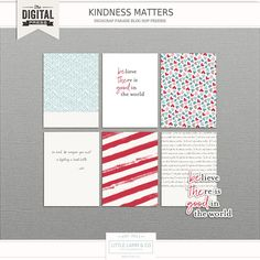 Free Kindness Matters Journal Cards from Little Lamb & Co. {February 2017 DigiScrap Parade}