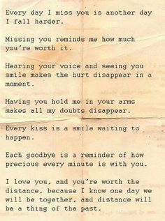 Source: Long Distance Relationship Quotes To Help You & Your Love The Words, Relationships Love, Long Distance Relationships, Long Distance Love Letters, Long Distance Quotes, Long Distance Boyfriend, Long Distance Relationship Quotes Miss You, Missing You Quotes For Him Distance, Military Relationships