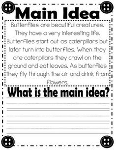 MAIN IDEA AND DETAILS PRACTICE (COMMON CORE) - TeachersPayTeachers.com