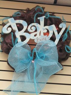 """Welcome Baby Mesh Deco Wreaths 