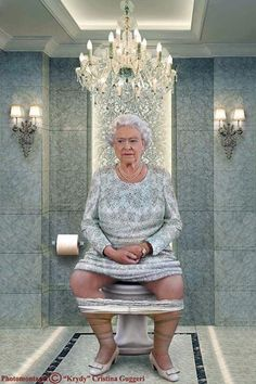 Italian artist, Cristina Guggeri, has taken to Photoshop to remind us all that some of the most famous world leaders are people too. And by that she means taking the nasty on the toilet.