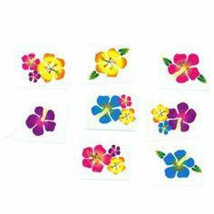 Amscan Confettis en Forme de Fleur Hibiscus hawa/ïen Multicolore