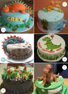 dinosaur birthday cake | Dinosaur Cakes - Round, Rectangle and Dinosaur-Shape Cakes | KandyOh ...
