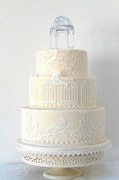 Birdcage Wedding Cake - i dont have any wish to get married . but if i did, THIS would be the cake, beautiful. Birdcage Wedding Cake, Uk Wedding Cakes, Beautiful Wedding Cakes, Gorgeous Cakes, Wedding Cake Designs, Pretty Cakes, Amazing Cakes, Cupcakes, Cupcake Cakes