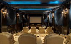 Elegant Home Theater - Houston, Texas