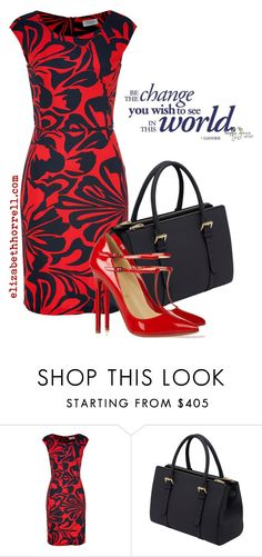 """""""Liz pics"""" by elizabethhorrell ❤ liked on Polyvore featuring Steffen Schraut, Mulberry and Christian Louboutin"""