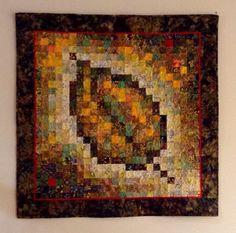 Watercolour leaf quilt