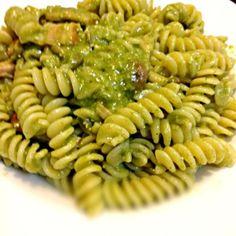以前作ったほうれん草のスープの残りで。 - 7件のもぐもぐ - ジェノベーゼ風。 by kazzy2501