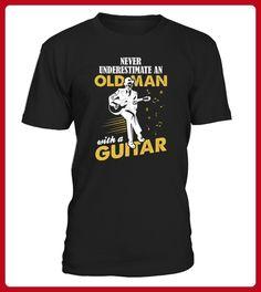 Never Underestimate An Old Man With A Guitar TShirts - Tischtennis shirts (*Partner-Link)