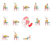 Surya Namaskar Variation Sitting On Chair (Sun Salutation Variation Sitting On Chair) is primarily for elderly people or people with mobility issues or disabilities. Chair Surya Namaskar is also beneficial for people with desk jobs as it can also be done while working in front of the computer to give the body a gentle massage and stretch, if one is seated for long hours. #morningyoga Restorative Yoga Sequence, Yoga Sequences, Morning Yoga Flow, Yoga Sequence For Beginners, Beginner Yoga Workout, Surya Namaskar, Chair Yoga, Long Hours, Yoga Videos