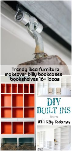 Trendy ikea furniture makeover billy bookcases bookshelves 16+ ideas , Trendy ikea furniture makeover billy bookcases bookshelves 16+ ideas #furniture... ,  #Billy #Bookcases #Bookshelves #furniture #Ideas #Ikea #Makeover #trendy Ikea Billy Bookcase Hack, Billy Bookcases, Bookshelves Ikea, Ikea Furniture Makeover, Ikea Makeover, Furniture Ideas, Built Ins, Ideal Home, Sink