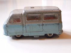 Blue And Grey Vintage Dinky Toy Van / Made In London