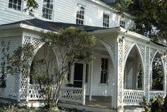 gothic revival porches   Porch, Hall-London House, Pittsboro, Chatham County, North Carolina ...