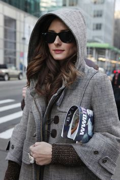 Love the hooded jacket - Olivia Palermo