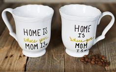 Make a simple DIY mug for your mom for mothers day, birthday or just to show her you love her!