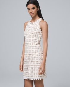 cd3f0cb1bcbad Women s Eliza J. Crochet Lace Shift Dress by White House Black Market