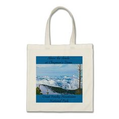 Clouds at Clingman's Dome, Great Smoky Mountains National Park tote bag. Customize this design with your own text, and choose from a variety of tote styles.  Made from 100% cotton, and has strong handles with reinforced stitching.  http://www.zazzle.com/littlethingsdesigns?rf=238200194340614103