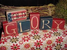 ~ Wooden Blocks Old Glory ~