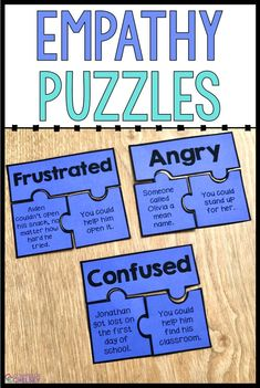 Use these empathy activities for kids to help your elementary students understand the feelings of others and learn to respond with empathy. These puzzles and worksheets are perfect for social skills or friendship skills lessons focused on empathy. Coping Skills List, Coping Skills Activities, Social Emotional Activities, Emotions Activities, Counseling Activities, School Counseling, Activities For Kids, Classroom Activities, Character Education Lessons