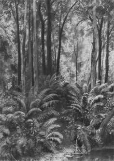 Ferns in the forest, 1877 Ivan Shishkin