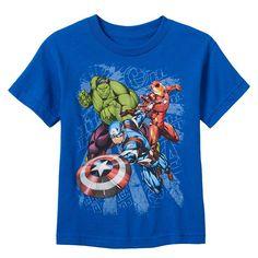 Boys 4-7 Marvel Avengers Hulk, Iron Man & Captain America Puff-Print Graphic Tee, Boy's, Size: