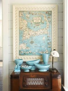 want to get my hands on a nautical map and frame it.. lovely