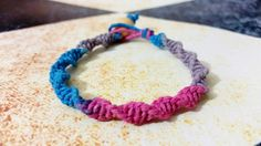 Hey, I found this really awesome Etsy listing at https://www.etsy.com/listing/261300944/pink-and-blue-spiral-hemp-bracelet