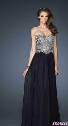 Elegant Chiffon Sleeveless A-Line Strapless Evening Dress In Stock Prom  Dress Prom Dresses c15c2b4f9