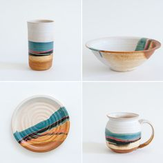 STUNNING STONEWARE PIECES BY BLUE EAGLE POTTERY