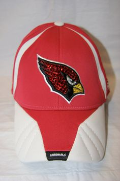 AZ Cardinals Swarovski hat  http://www.etsy.com/shop/HerTeamRox