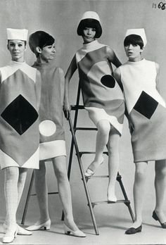 1966 - Hiroko Matsumoto and models presenting the new Pierre Cardin Collection