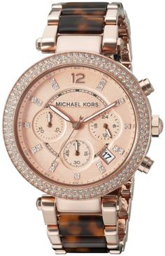 582f947e4edc Amazon.com  Michael Kors Women s Parker Brown Watch MK5538  Michael Kors   Watches. Michael Kors Rose GoldCheap ...