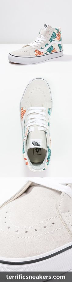 #Vans SK8 REISSUE Sneaker – Like those flowers! Cool Vans Shoes, Skate Shoes, Vans Sneakers, Casual Sneakers, Chuck Taylor Sneakers, Nike Shoes, Shoes Heels, Supra Shoes, Vans Off The Wall