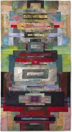 Before A Gate by Emily Richardson - 34 x 65 inches    Quilts Japan Prize