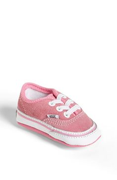Vans 'Authentic' Crib Shoe (Baby) available at Vans Shoes Kids, Skate Shoes, Girls Shoes, Crib Shoes, Baby Shoes, Wedding Vans, Nordstrom Baby, Baby Vans, Petite Fille
