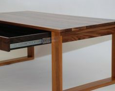 Stylish Table with hidden storage Furnishings, Walnut Furniture, Furniture, Wood Furniture, Elegant Bedding, Woodworking, Home Decor, Stylish Tables, Cabinet Makers