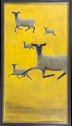 Gambolling sheep by Michael McWilliams Inspiration Artistique, Australian Art, Mellow Yellow, Surreal Art, Collage Art, Art Inspo, Painting & Drawing, Sheep, Pop Art