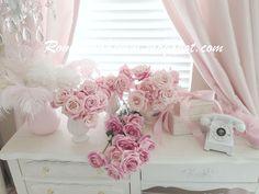 My Shabby Chic Home ~ Romantik Evim ~Romantik Ev: Romantik ev:Romantic Flowers- shabby chic tarzi dekorasyon