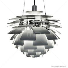 The Artichoke White Pendant Cottage Lighting, Mid Century Modern Furniture, Artichoke, Decoration, Bar Stools, Mid-century Modern, Home Furniture, Ceiling Lights, Interior Design