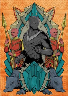 (OC/Fan Art) Black Panther and the Dora Milaje. Black Panther Marvel, Black Panther King, Marvel Comics, Marvel Art, Marvel Heroes, Marvel Avengers, Jack Kirby, Comic Books Art, Comic Art