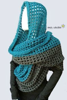 Coraline in Minden Oversized Cowl and Wrap | This crochet cowl looks SO cozy