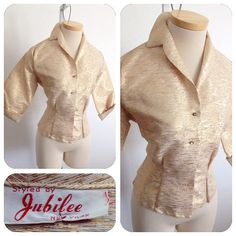 NYE Vintage 1950s Jubilee Lamé RnR metallic gold by hipsmcgee