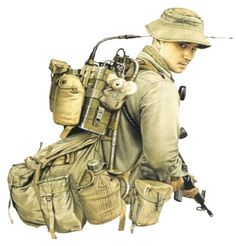 Signaller, 1970 - pin by Paolo Marzioli Military Gear, Military Equipment, Military History, Military Uniforms, Vietnam Veterans, Vietnam War, Army Times, Military Pictures, Army Uniform
