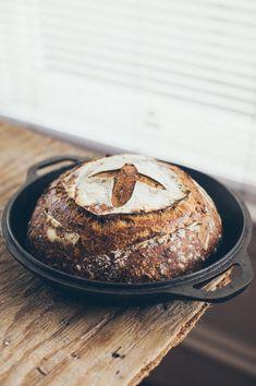 coffee almond sourdough bread