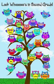 http://www.pdfescape.com to add names to the poster Owl Poster