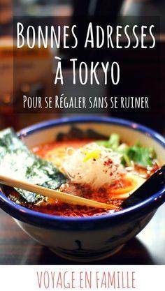 Ramen, sushi, tempuras and more : bonnes adresses à Tokyo, testées et approuvées en famille ! #tokyo #voyageenfamille #food #japon