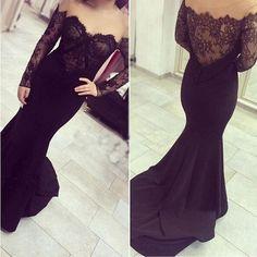 Mermaid Dark Purple Prom Dresses Evening Party Dress pst0796