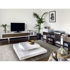 Table basse design Blanche Symétrie prix soldes Atylia 360.50 € TTC au lieu de 515,00 €