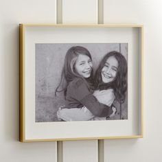 Shop Brushed Brass 11x14 Wall Frame.   $49  Crate & Barrel  Love this frame, would love a family photo in this size for our Bedroom or the Dining Room