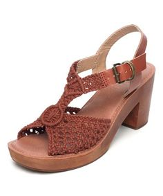 Look what I found on #zulily! Rust Ikat Leather Sandal #zulilyfinds